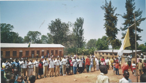 The refugees were housed in Mugombwa church and the class¬rooms of the mission.