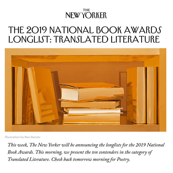The 2019 National Book Awards Longlist: Translated Literature - The New Yorker