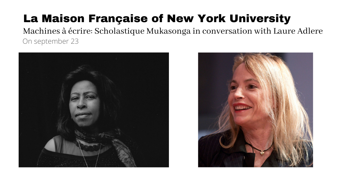 New York University : Scholastique Mukasonga in conversation with Laure Adler - la Maison française - Rwanda genocide Tutsi 1994