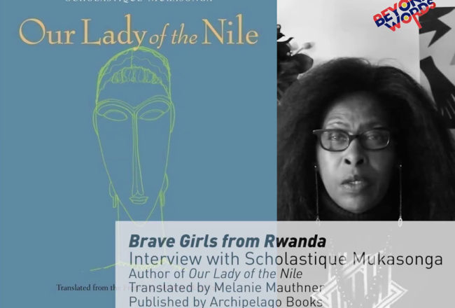 Scholastique Mukasonga interviewed by the Institute Français at the Beyond Words French Literature Festiva - Rwanda