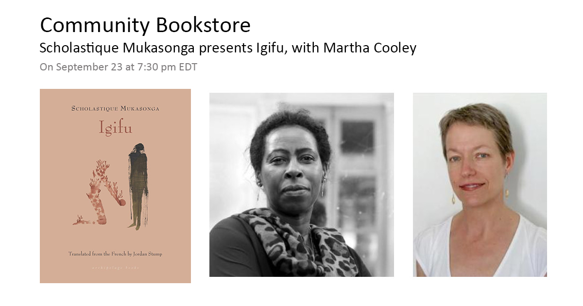 Scholastique Mukasonga presents Igifu, with Martha Cooley - community bookstore