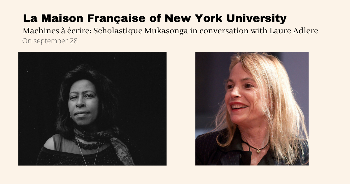 New York University : Scholastique Mukasonga in conversation with Laure Adler