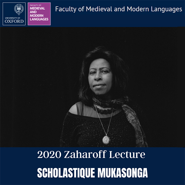 2020 Zaharoff Lecture scholastique Mukasonga - University of Oxford