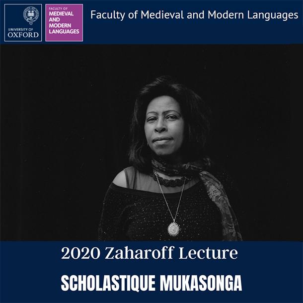 2020 Zaharoff Lecture scholastique Mukasonga - University of Oxford