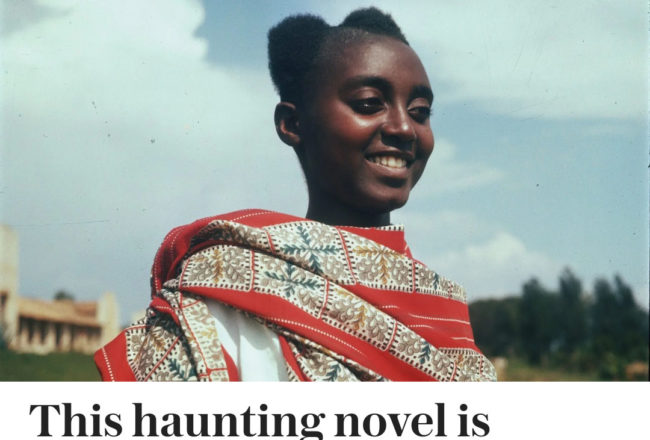 """Lucy Scholes with The Telegraph Books for reviewed my novel """"Our Lady of the Nil""""(translated by Melanie Mauthner). My book is out now on Daunt Books my publisher in UK."""