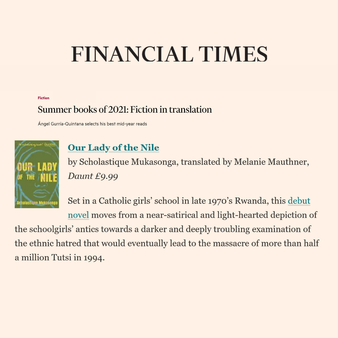 Financial Times : Summer books of 2021: Fiction in translation