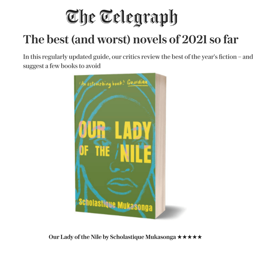"""The Telegraph :""""Our Lady of The Nile""""among The best novels of 2021"""