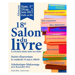 Salon du Livre d'Alençon: Soirée d'ouverture en présence de Scholastique Mukasonga, le 31/05