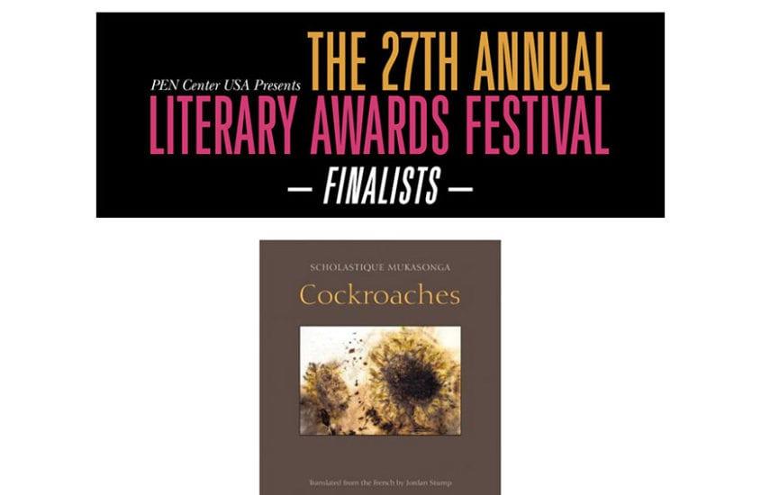 Cockroaches dans la liste finale du PEN Center USA Litterary Awards