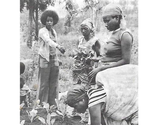 Scholastique Mukasonga, assitante sociale au Burundi