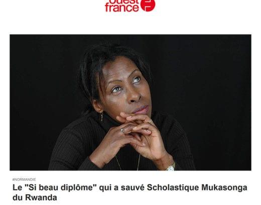 Ouest France: Le « Si beau diplôme » qui a sauvé Scholastique Mukasonga