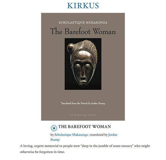 Kirkus Reviews : The Barefoot Woman