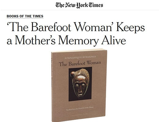 The New York Times review the book 'The Barefoot Woman' by Scholastique Mukasonga - Rwanda