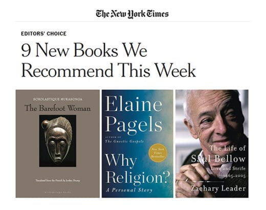 "The New York Times : ""9 New Books We Recommend This Week."""