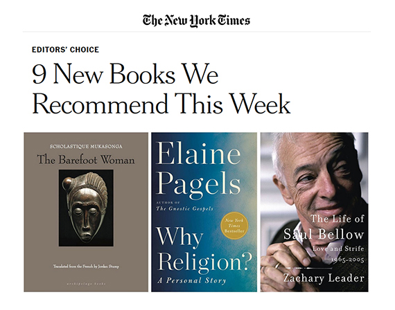 """The New York Times : """"9 New Books We Recommend This Week."""""""