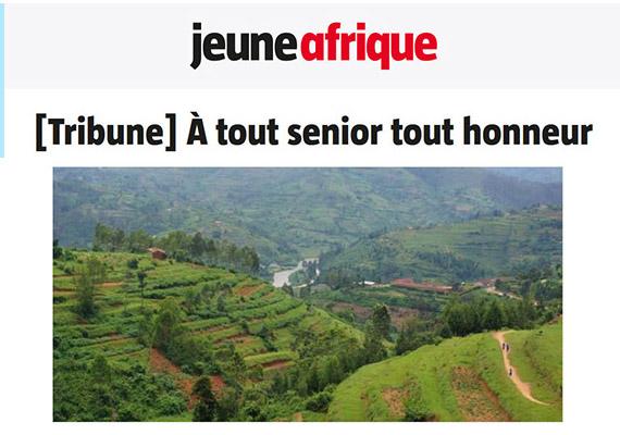 Jeune Afrique : À tout senior tout honneur