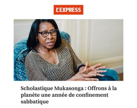 L'express : Offrons à la planète une année de confinement sabbatique - tribune Scholastique Mukasonga Rwanda