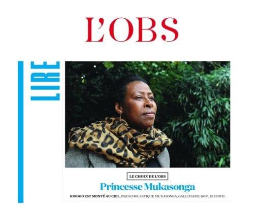 L'Obs - chronique par Jérôme Garcin : princesse Mukasonga