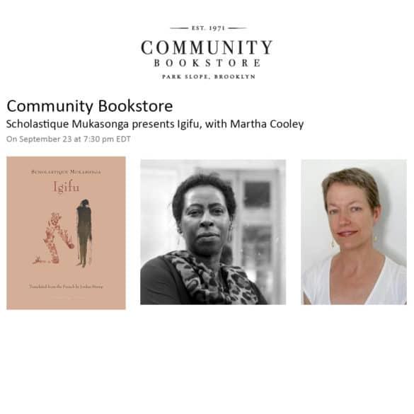 Community Bookstore : présentation de l'Igifu - Scholastique Mukasonga