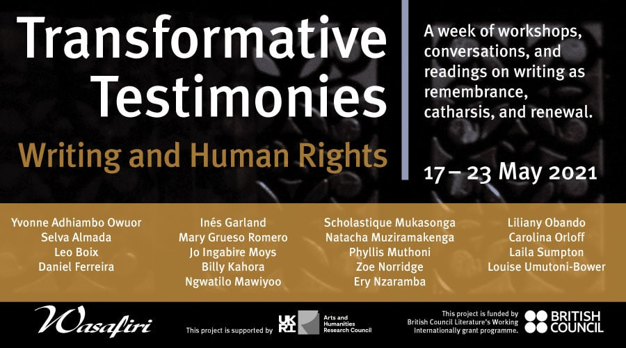 """Wasafiri présente Online Events """"Writing and Human Rights"""""""