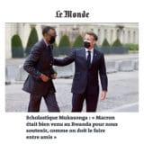 tribune paru dans le quotidien Le Monde daté du 2 juin sur le discours du Président Macron lors de la cérémonie au Mémorial de Gisozi.